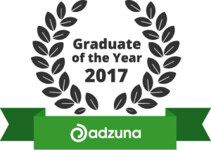 Adzuna Graduate of the Year 2017 logo